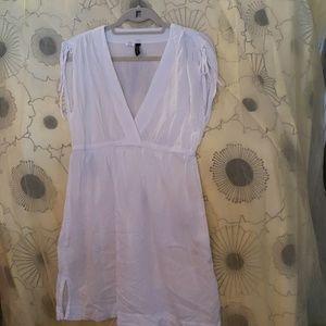 Lauren Swimsuit Cover Up. White, dress type